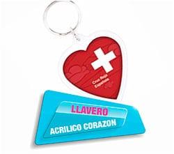 Llavero Acrilico Corazon