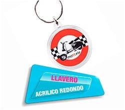 Llavero Acrilico Redondo