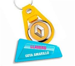 Llavero Gota Amarillo