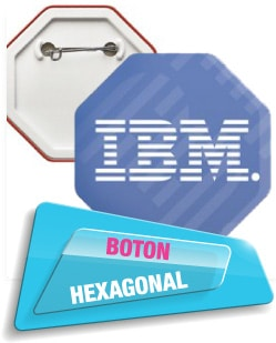 Boton Hexagonal